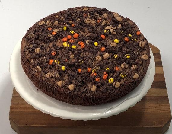 Strange Brownie Pizza Brownie Pie Brownie Birthday Pizza Etsy Funny Birthday Cards Online Elaedamsfinfo