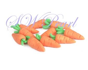 Sugar Carrots 3D Cake Cupcake Edible Toppers Children Birthday