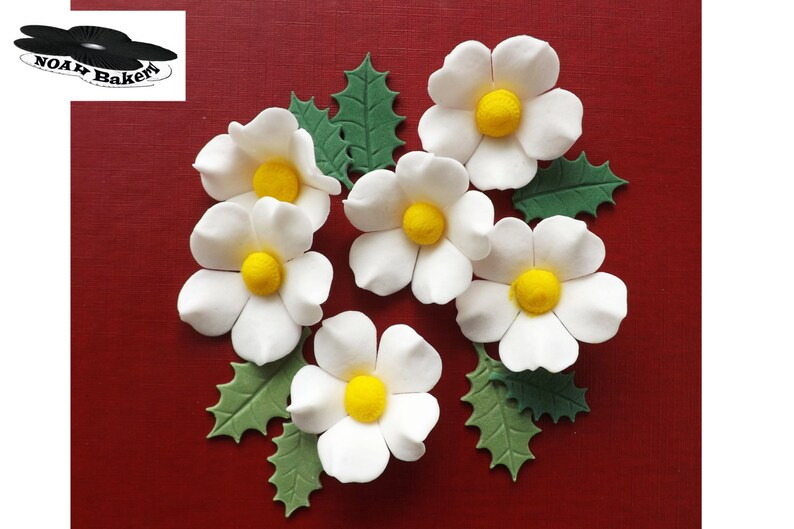Silver Roses /& Holly Christmas Bouquet Edible SugarPaste Cake Decorations Topper