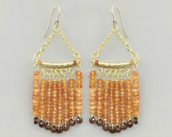 Carnelian & Garnet Gemstone Earrings