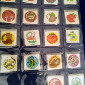 Vintage TREND Matte Scratch and Sniff Stinky Stickers HOT DOG