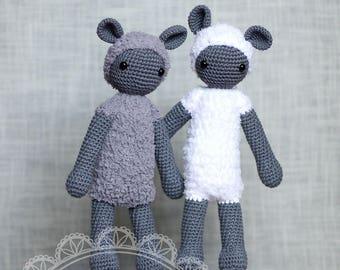 Stuffed sheep/Amigurumi lamb/Crochet sheep/Lamb toy/Baby soft toy/Amigurumi animals/Baby nursery/Knitted lamb