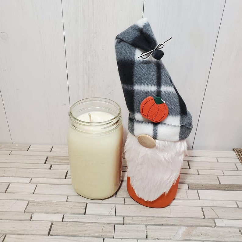 Soy Wax Candle Decorative Centerpiece Candle Gnome Candle Topper