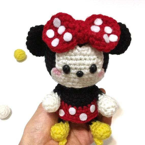 Minnie Mouse Plush Amigurumi Minnie Mouse Decor Crochet Minnie Etsy