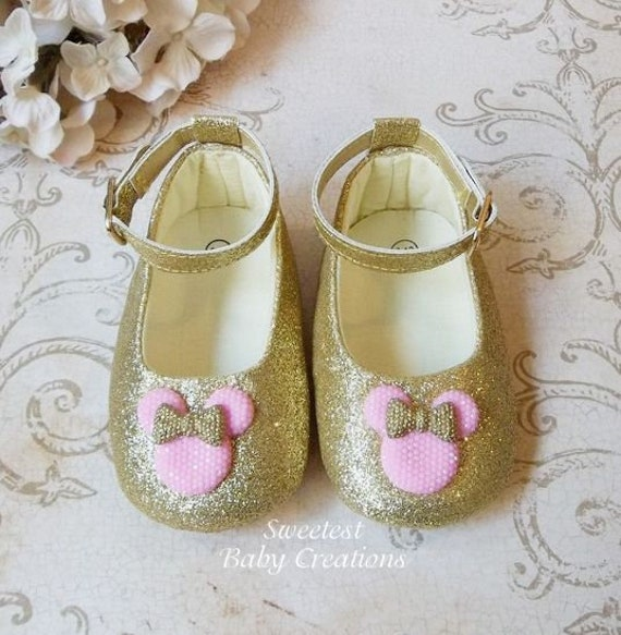 Minnie Mouse Pink and Gold Shoes Minnie