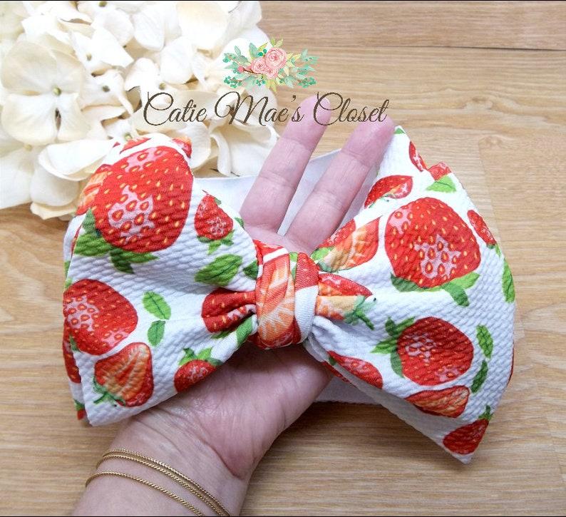 Berry 1st Birthday Strawberry Headband Sweet One Strawberry Birthday Outfit Strawberry First Birthday Outfit Strawberry Hair Bow