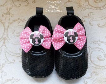 Hot Pink Minnie Mouse Birthday Outfit, Minnie Mouse First Birthday Outfit, Minnie Mouse Shoes, Hot Pink Minnie Mouse 1st Birthday Outfit