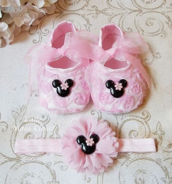 1db898ee6b0 Minnie Mouse Pink Shoes for a Pink Minnie Mouse 1st Birthday