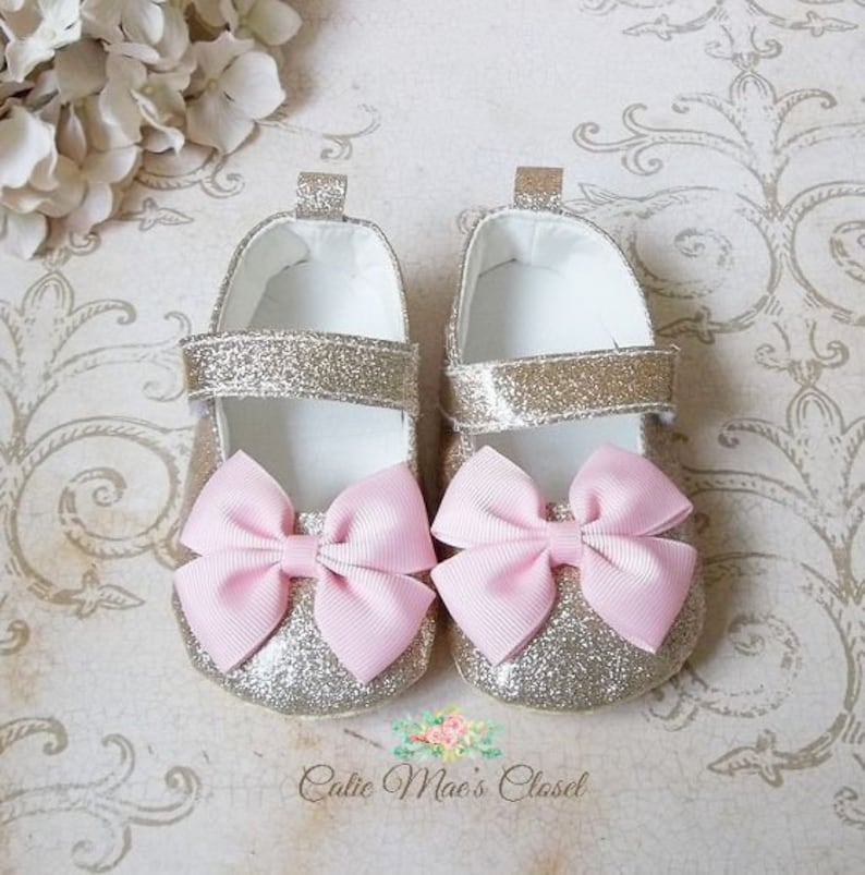 137996d39eb71 Pink and Gold Shoes, Pink and Gold First Birthday Outfit, Gold Baby Shoes,  First Birthday Outfit Girl Pink and Gold, 1st Birthday Outfit