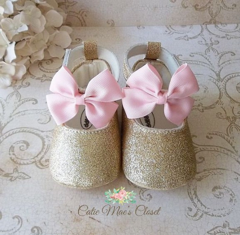 9acb5912b861b Pink and Gold First Birthday Outfit - Pink and Gold Shoes - 1st Birthday  Girl Outfit Pink and Gold - First Birthday Shoes for Girl