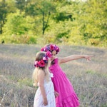 Pink and Purple Child Size Floral Crowns