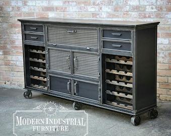 La Credenza Vertaling : Modern industrial wine cabinet credenza bar storage liquor etsy