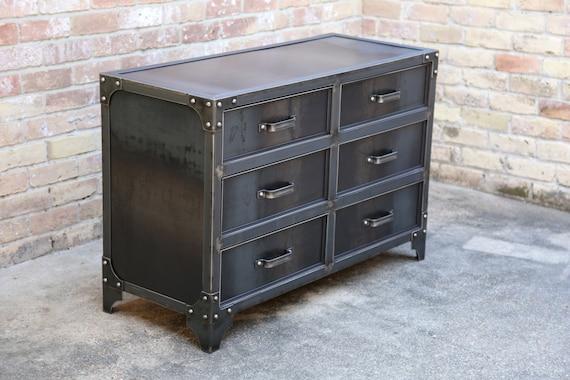 GrandView Modern Industrial Steel Bedroom Dresser