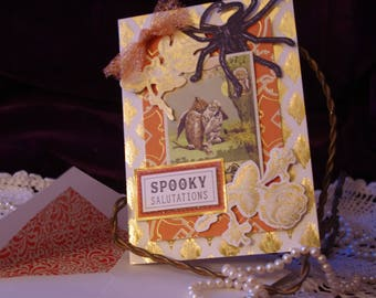 Vintage Style Handmade Halloween Card