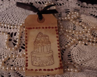Handmade Stamped and Glittered Gift Tag