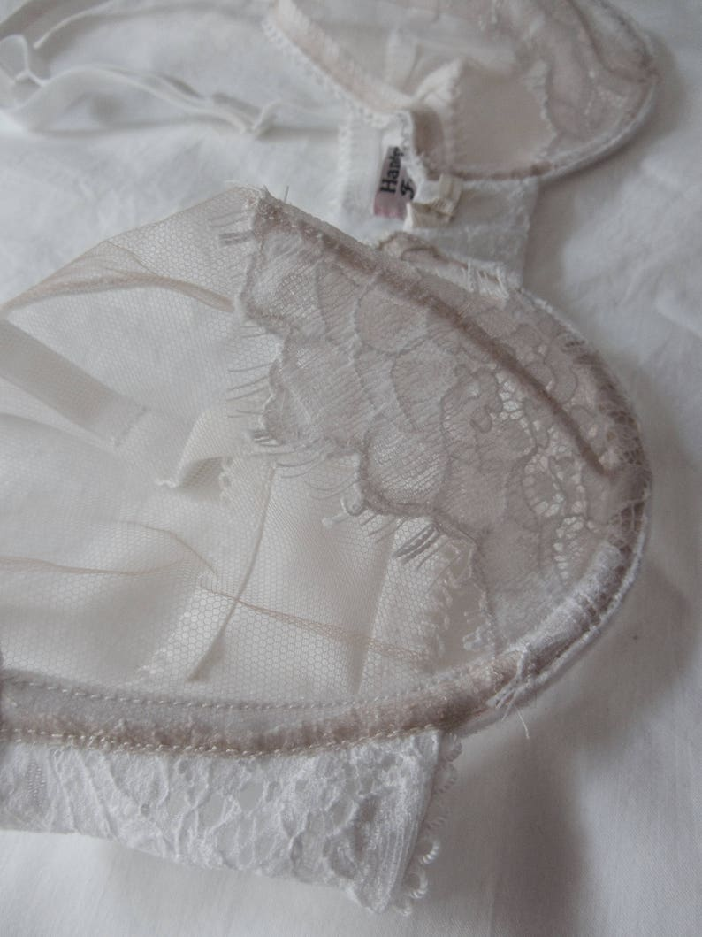 Lace net FRIDA bra 32C with matching MARIE briefs UK10