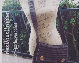 Crochet Messenger Bag/Messenger Bags/Purse/Briefcases