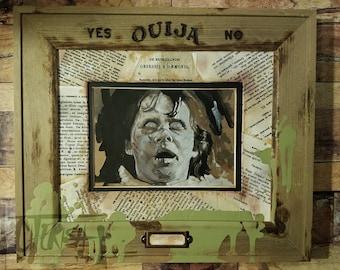 "Regan MacNeil The Exorcist Original Drawing In Custom Frame 5""x7"" in 8""x10"" Frame"