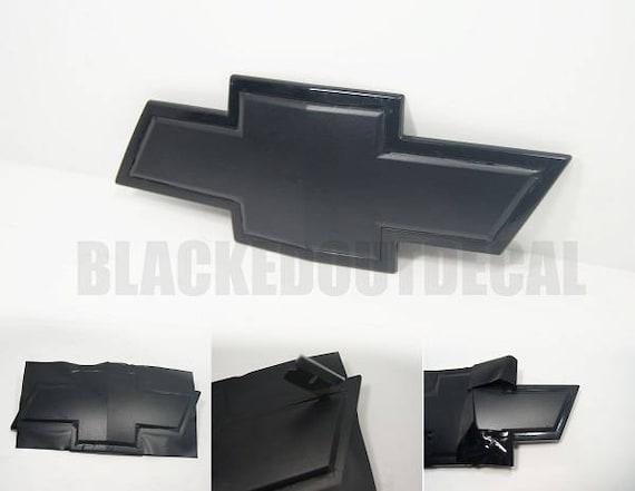 Flat Black Chevy Emblem Vinyl Wrap Kit 2 Sheets Etsy