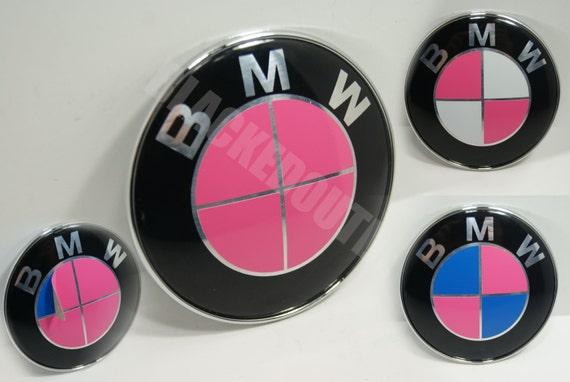 Bmw Roze Embleem Vinyl Overlay Velgen Kap Kofferbak Stuurwiel Decal Sticker Vinyl Grafische Huid Skinz