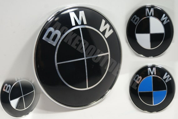 bmw emblem schwarz vinyl berlagern felgen kapuze stamm etsy. Black Bedroom Furniture Sets. Home Design Ideas