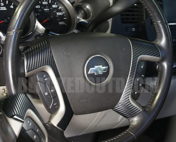 2015-2019 Chevy TAHOE Steering Wheel Decal Overlay Emblem Sticker Vinyl Bowtie