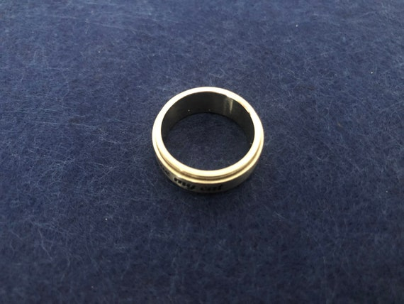 7mm Stainless Steel Vintage Die Cut Tribal Design Spinner Ring Band Size 8 12