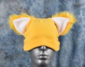 Yellow Ear Beanie Hat