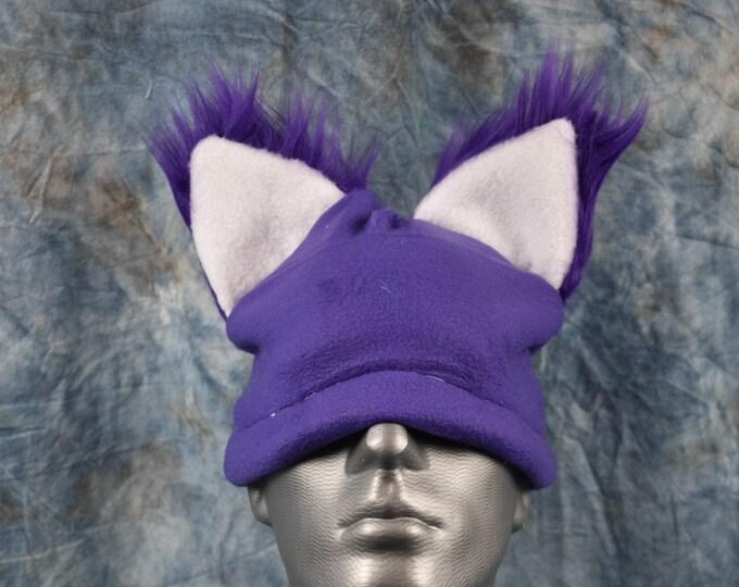 Purple Wolf Ear Beanie
