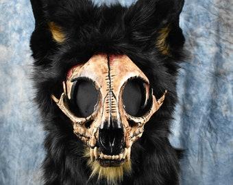 Pre-Made Skull Cat fursuit head