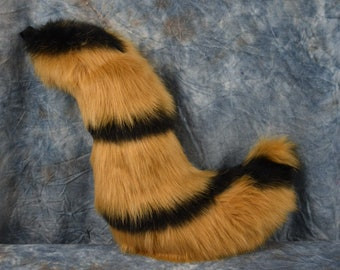 Honey/Black striped Canine Tail