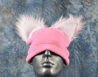 Pink Ear Beanie