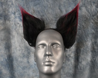 READY TO SHIP!!! Red Monster/Black Canine Ears