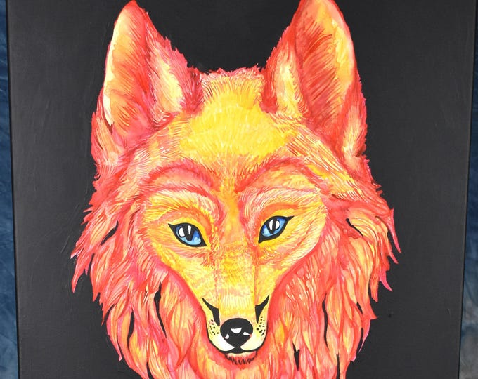 Kitsune, Fire Fox, Water Color Painting