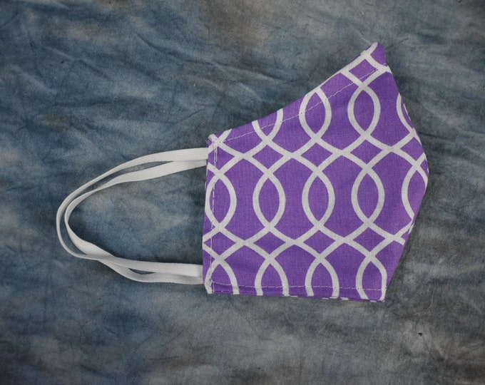 Purple Wave Lines Face Mask
