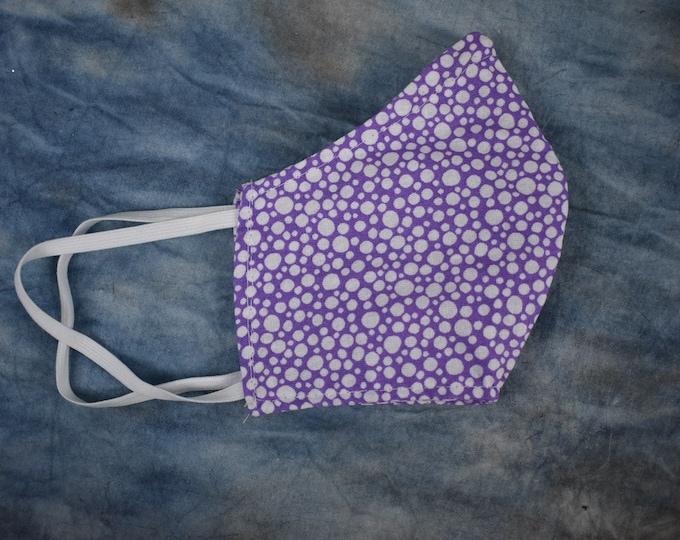 Purple & White Circles Face Mask
