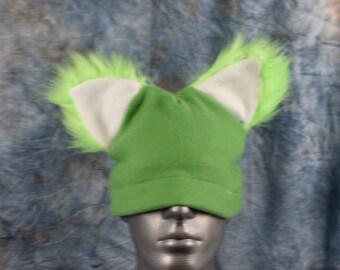 Lime Green Ear Beanie Hat