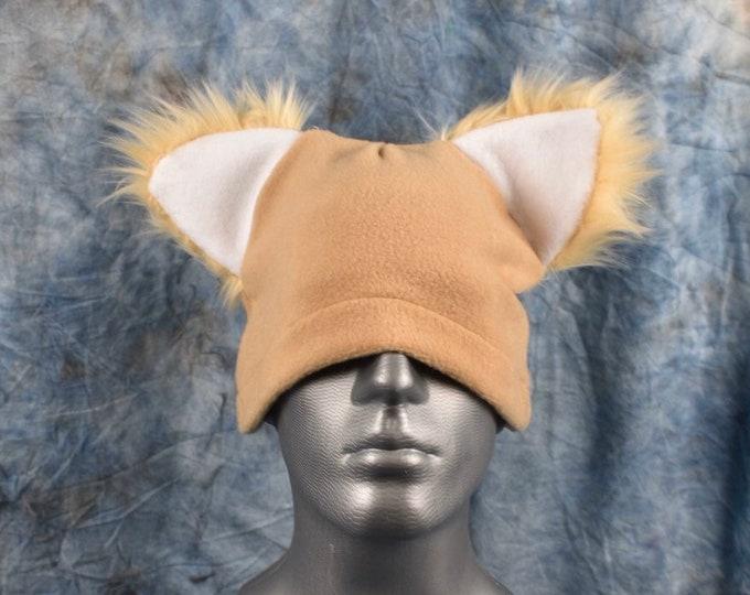 Tan Ear Beanie Hat