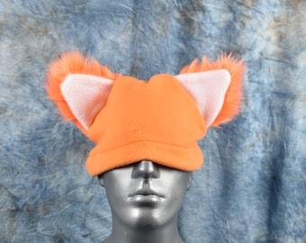 Orange Ear Beanie Hat