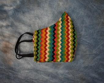 Colorful Zig-Zag Stripes Face Mask