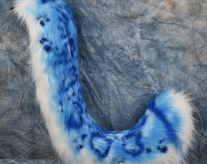 Ready to Ship: Blue snow Leopard tail