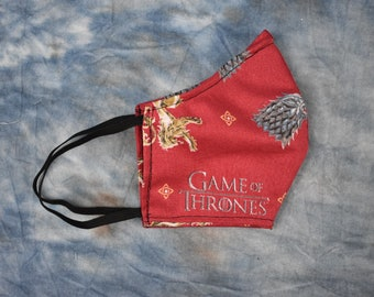 Game of Thrones Red Sigils Face Mask