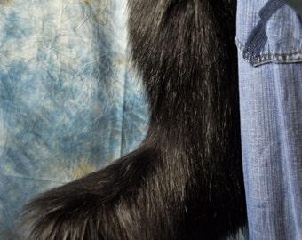 High Quality Black Fox Fursuit Tail