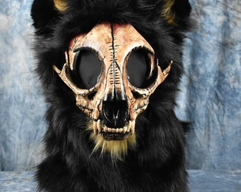 Custom: Skull Cat Fursuit Head