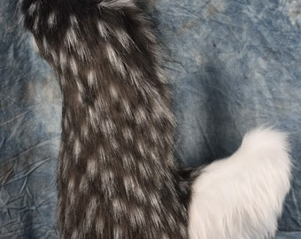 Charcoal Speckled Fox Tail