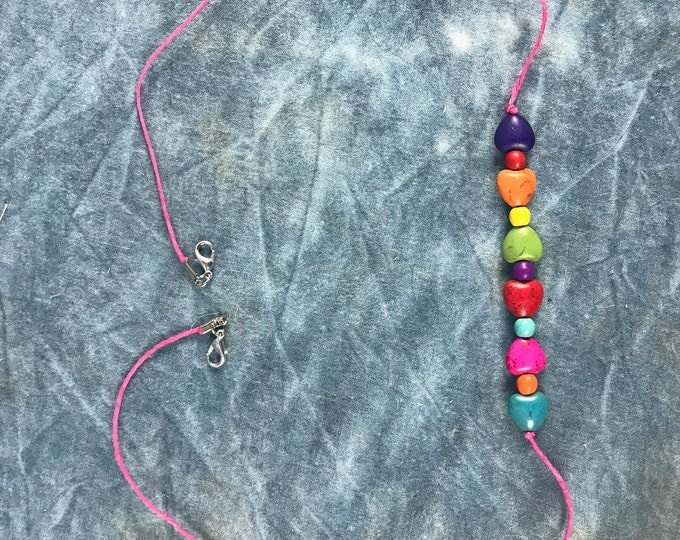 Rainbow Beads Face Mask Chain