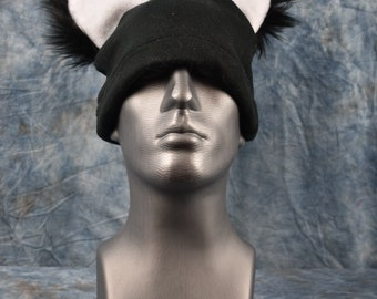 Black Wolf Ear Beanie