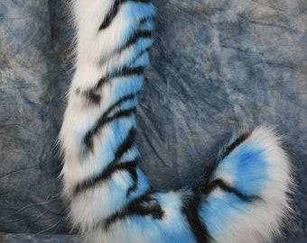 Ready to Ship: Blue Tiger Tail