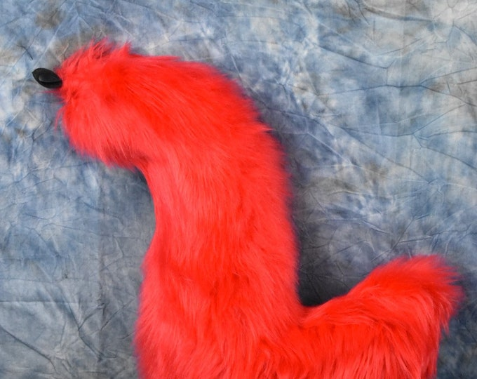 Stoplight Red Fursuit Tail