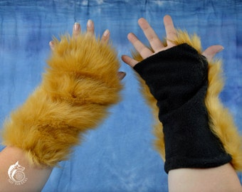 CUSTOM: Solid Color Fur Arm Warmers